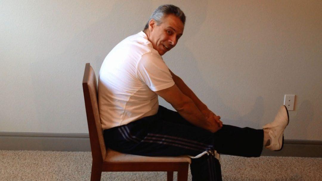 Exercícios Para Coluna e Lombar Usando Uma Cadeira